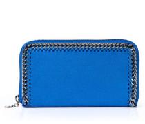 Großes Portemonnaie mit Ketten-Umrandung Blau
