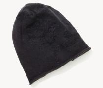 Cashmere-Mütze mit Paillettenverzierung Braun