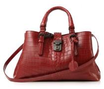 Handtasche aus weichem Krokodilleder 'Roma Small' Rot