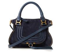 Veloursleder-Handtasche 'Marcie Medium' Blau