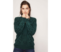 Grobstrick-Cashmere-Pullover 'Sina' Smaragd