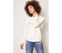 Baumwoll-Sweatshirt 'Tara' Off White