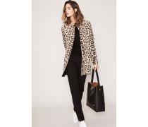 Cashmere-Wende-Mantel Jaguar-Print 'Priska' Beige