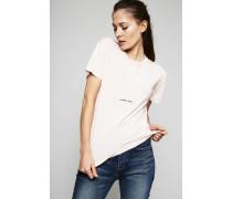T-Shirt im Used-Look Rosé