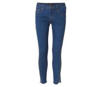 Jeans mit seitlichem Zipper Blau