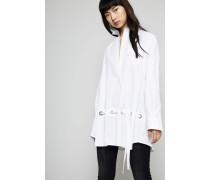 Oversize Bluse mit Details Weiß