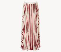 Gemusterter Maxi-Rock 'Lucea Maxi Skirt' Beige/Rot