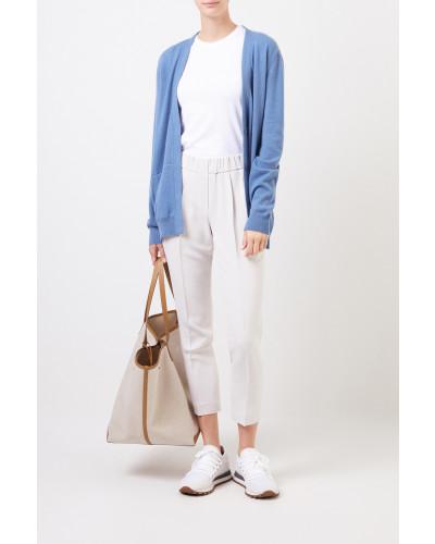 Klassisches Baumwoll-Shirt Weiß