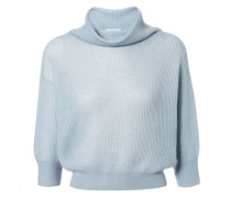 Kurzer Pullover Hellblau