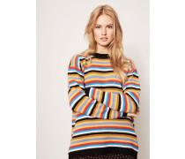 Woll-Pullover Streifenmuster Multi
