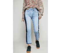 High Rise Ankle Straight Leg 'Gia' Jeans Blau