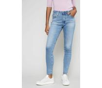 Jeans mit ausgefranstem Saum Hellblau