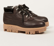 Ankle Boots 'Tinne Shearling' Dark Brown