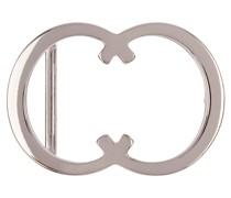 Gürtelschließe CC Silber glänzend