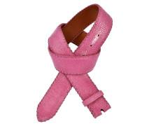 Rochenledergürtel Pink