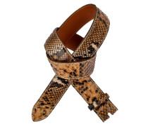 Pythonleder Gürtel Lipari Beige