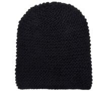 Mütze Handgestrickt in Schwarz