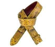 Pythongürtel Molorus 4 cm in Gelb