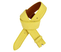 Pythongürtel Gelb 4 cm