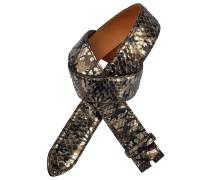 Pythongürtel Camouflage Bronze