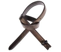 Reptiles House Pythonledergürtel RUM Metal in Schwarz 2,5 cm