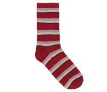 Socken Dina Summer Stripe Red Love