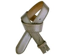 Pythongürtel Cintura Blau 4 cm