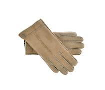 Handschuhe Lammfell in Beige