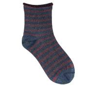 Socken Claudine Blau/Rot