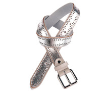 Ledergürtel in Silber 3 cm