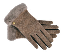 Handschuhe Shorty Braun