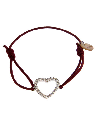 Armband Heart in Bordeaux