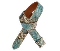 Pythongürtel Mondeo Turchese 4 cm