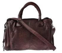 Handtasche Leguan Bordeaux