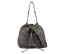 Bucket Bag Vintage Velvet in Grau