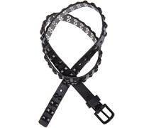 Cowboysbag Gürtel mit Nieten in Schwarz