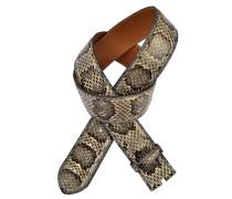 Schlangengürtel Elaphe Melange 4 cm