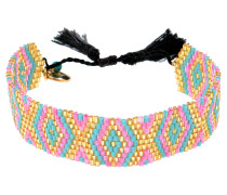 Glasperlenarmband Playa Ikat in Pink
