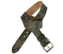 Nietengürtel STAR 3,5 cm inkl. Schließe in Schwarz
