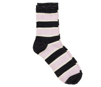 Socken Dory Stripe Schwarz/Rosé