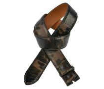 Pythongürtel Camouflage Militare 4 cm