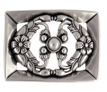 Reptile´s House Gürtelschließe Princess 4 cm Vintage Silber