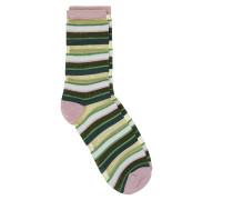 Socken Dagmar Multi Stripe Grün