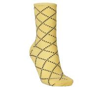 Socken Dina Love Yellow