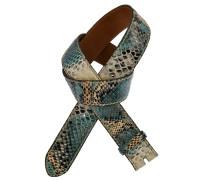 Pythongürtel Cuba Melange Aqua 4 cm