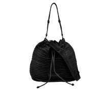 Bucket Bag Vintage Velvet in Schwarz