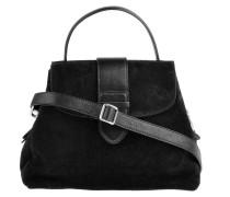 Handtasche Suede Schwarz