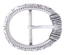 Gürtelschließe Gloria Vintage Silber 4 cm