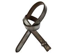 Reptiles House Gürtel RUM Metal in Grau-Braun 2,5 cm