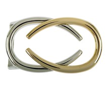 Gürtelschließe Pad Silber/Gold 4 cm